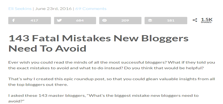Fatal Mistakes New Bloggers Need To Avoid