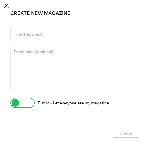 create magazine on Flipboard