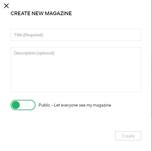 create magazine on Flipboard