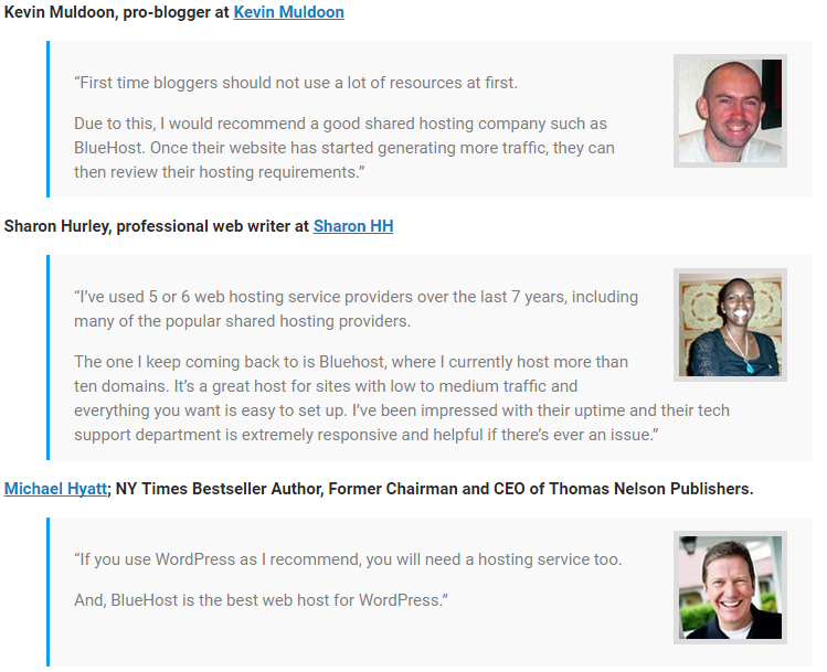 what experts says about blue host