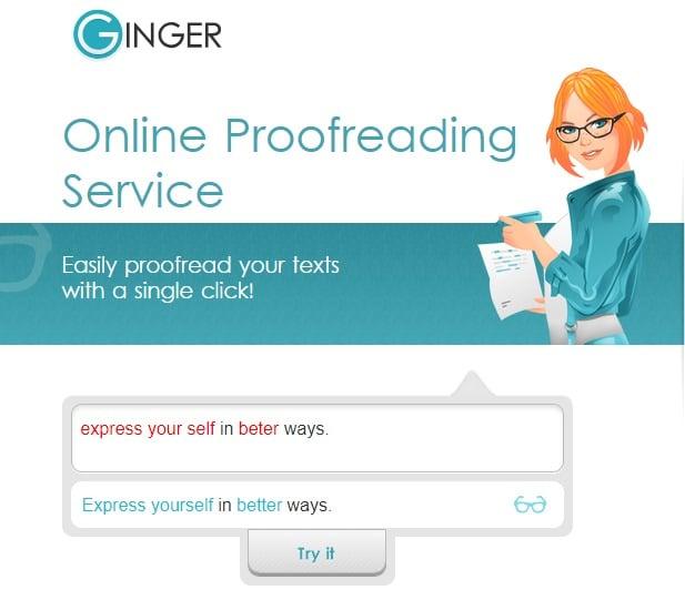 Ginger Proofreader Software