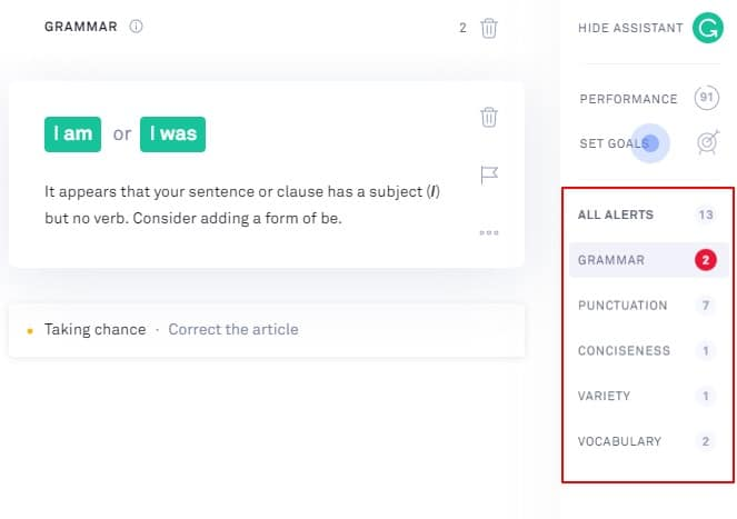 Grammarly Assistant
