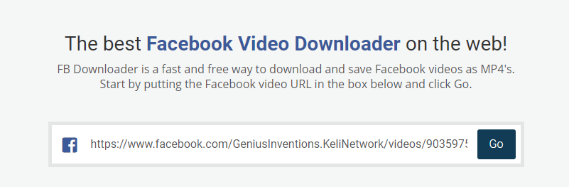 Facebook Video Downloader - FBDownloader net