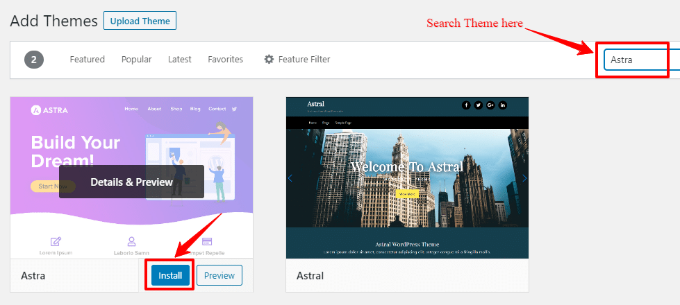 Change a WordPress Theme