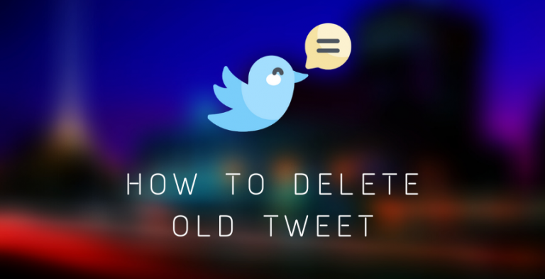 How to delete old tweet