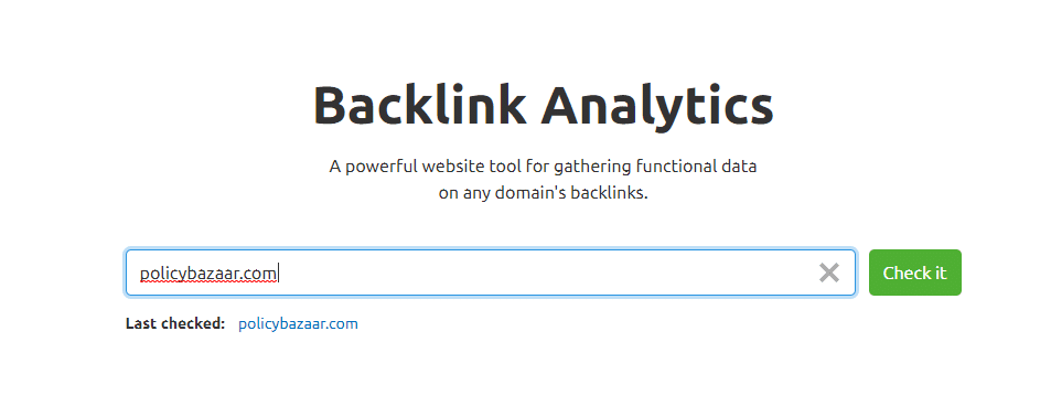 Backlinks PolicyBazaar SEMrush