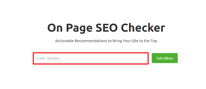 On Page Seo Checker SEMrush