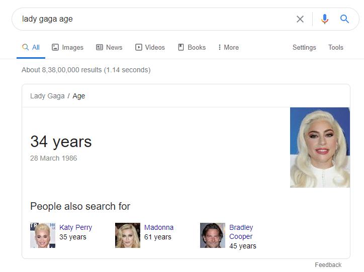 lady gaga age